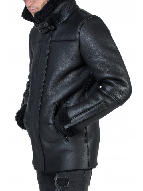 E-225 Black Shearling