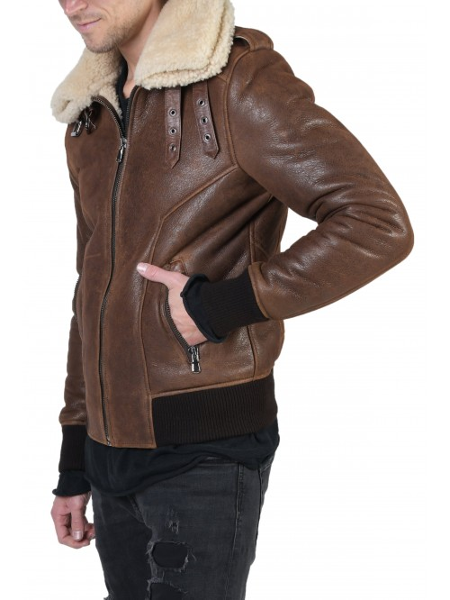 E-222 Brown Shearling