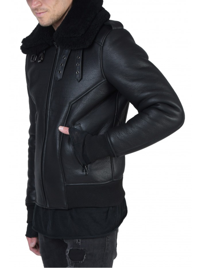 E-222 Black Shearling