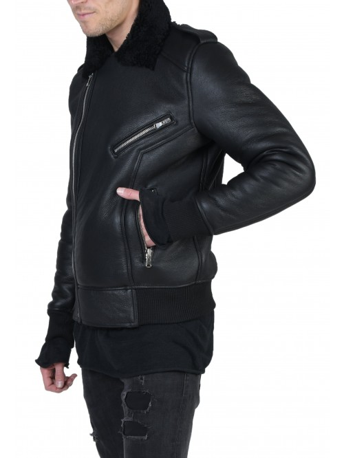 E-224 Black Shearling