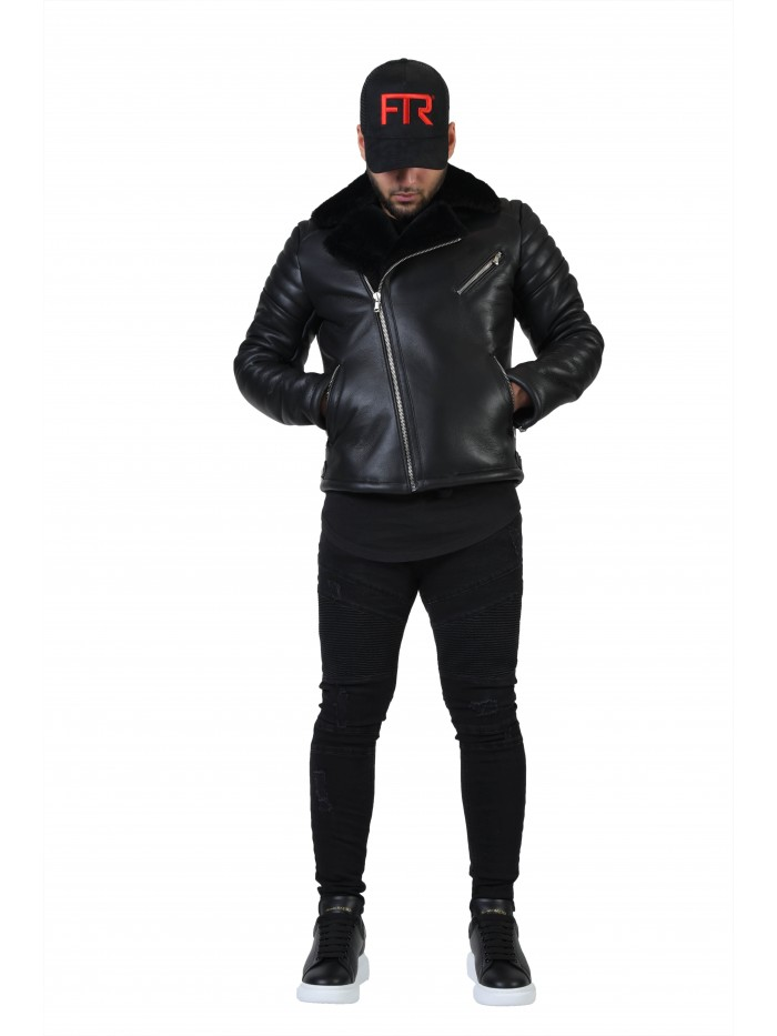 E-117 Black Shearling