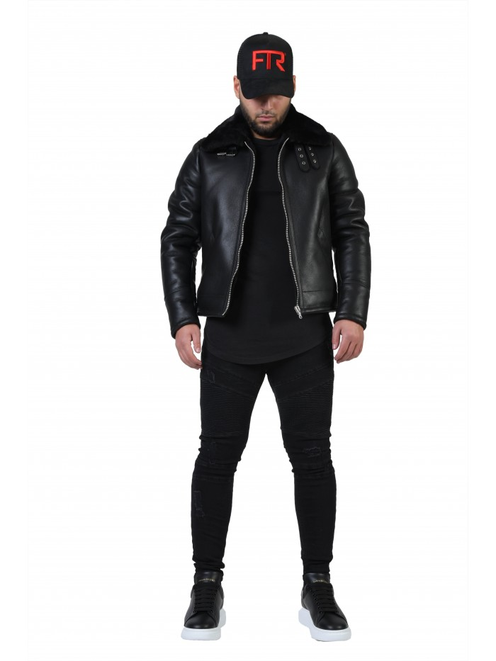 E-192 Black Shearling