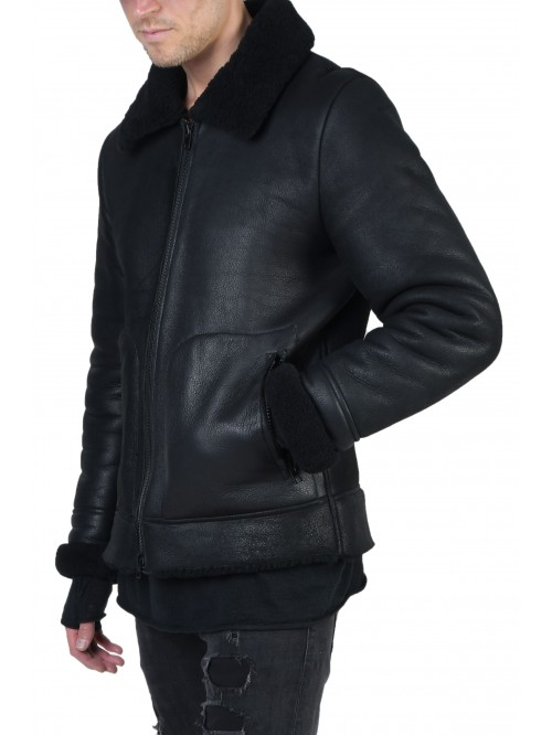 E-221 Black Shearling